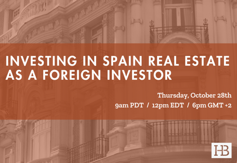 FREE Webinar - Investing in Spain Real Estate as a Foreign Investor
